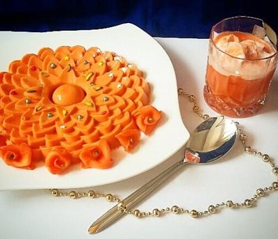 دسر هویج و بستنی