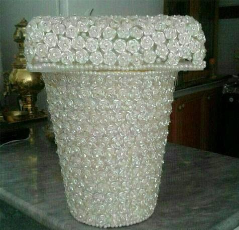 ست جا دستمال کاغذی و سطل زباله