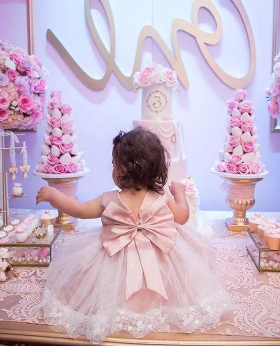 مدل لباس جشن تولد دخترانه