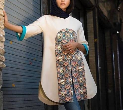 Manto Sonati 15 e1534077916463 مدل مانتو سنتی کوتاه | زیباترین مدل مانتوهای سنتی کوتاه برای خانم های شیک پوش مدل لباس
