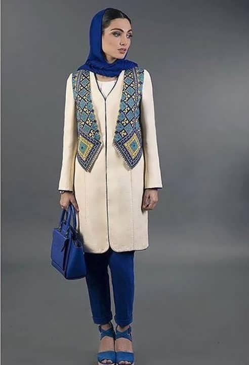Manto Sonati 16 e1534077935444 مدل مانتو سنتی کوتاه | زیباترین مدل مانتوهای سنتی کوتاه برای خانم های شیک پوش مدل لباس