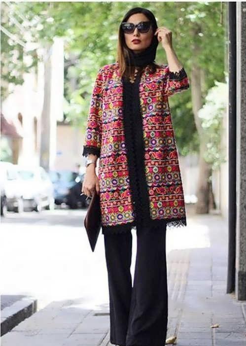 Manto Sonati 17 e1534077977451 مدل مانتو سنتی کوتاه | زیباترین مدل مانتوهای سنتی کوتاه برای خانم های شیک پوش مدل لباس
