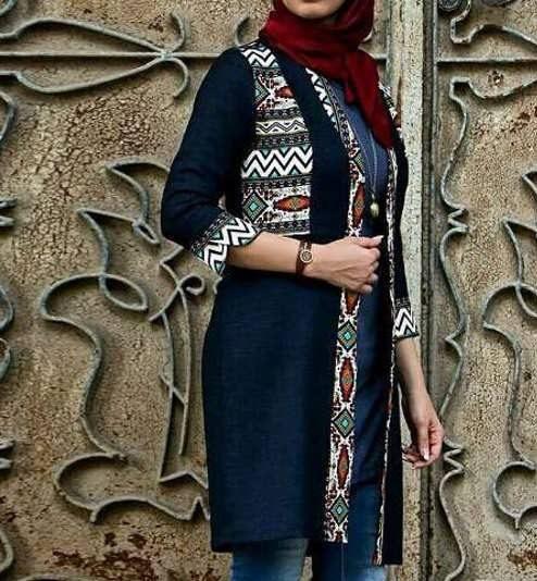 Manto Sonati 24 e1534078552878 مدل مانتو سنتی کوتاه | زیباترین مدل مانتوهای سنتی کوتاه برای خانم های شیک پوش مدل لباس