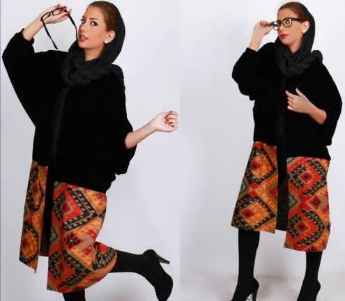 Manto Sonati 6 e1534077671841 مدل مانتو سنتی کوتاه | زیباترین مدل مانتوهای سنتی کوتاه برای خانم های شیک پوش مدل لباس