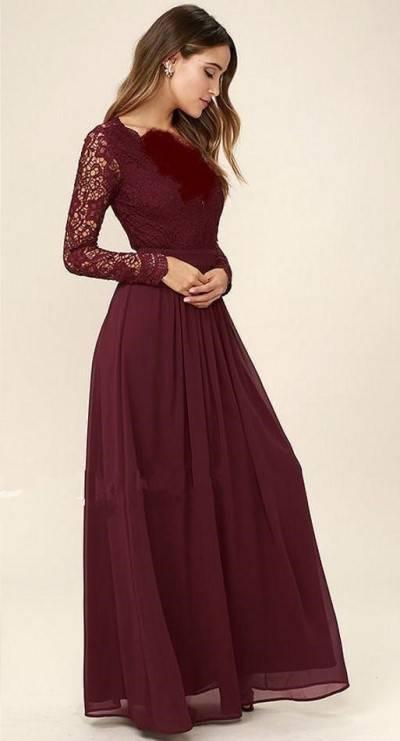 مدل های لباس های مجلسی گیپور زنانه زرشکی