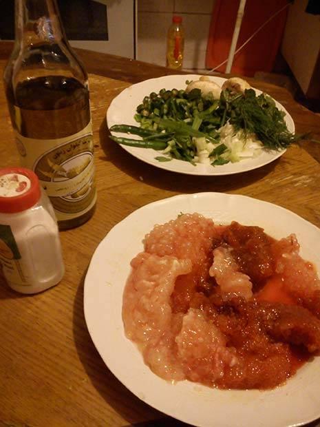 کوکو سبزی با اشپل ماهی