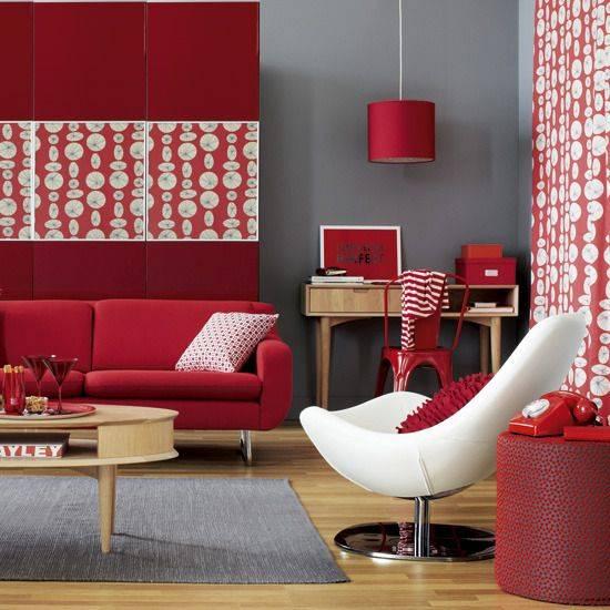 دکوراسیون رنگ قرمز و سفید