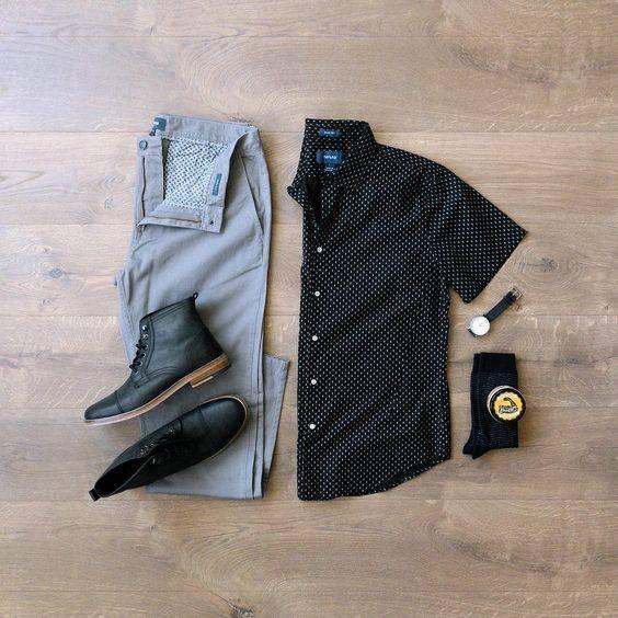 tip moharami 1 تیپ ماه محرمی مردانه | ست پیراهن و شلوار مردانه برای ماه محرم مدل لباس