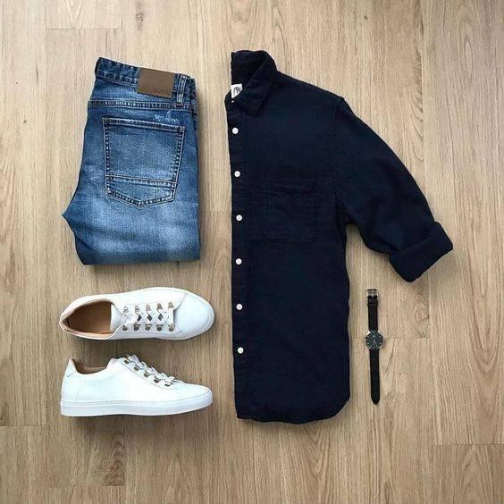 tip moharami 2 تیپ ماه محرمی مردانه | ست پیراهن و شلوار مردانه برای ماه محرم مدل لباس