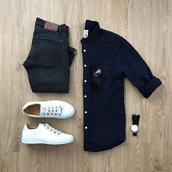 tip moharami 4 تیپ ماه محرمی مردانه | ست پیراهن و شلوار مردانه برای ماه محرم مدل لباس