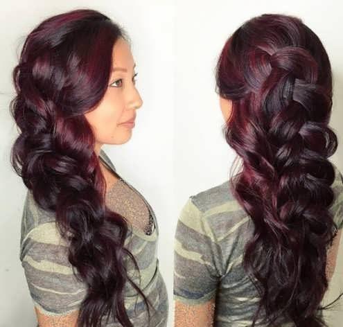 رنگ موی شرابی تیره و فرمول و ترکیب آن + عکس های رنگ موی شرابی تیره