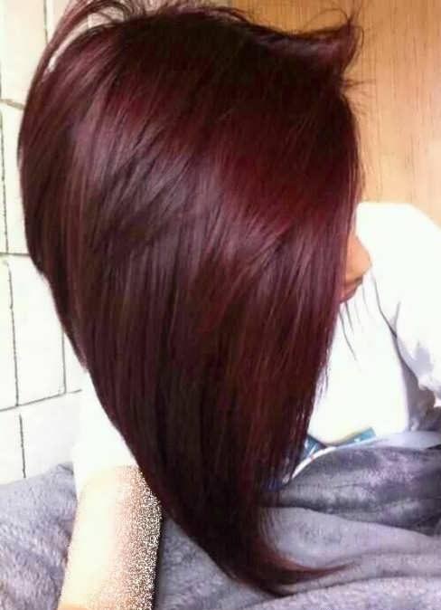 رنگ موی شرابی تیره