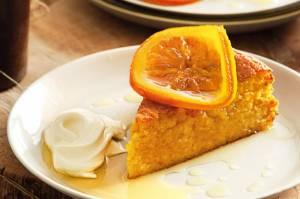 لوف کیک ماست و پرتقال