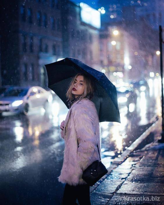 ژست عکاسی زیر باران