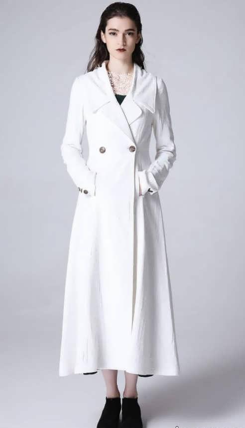 انواع مدل لباس های چاک دار مدل بارانی بلند و جدید برای خانم های شیک پوش