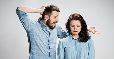 رفتار بد با همسر