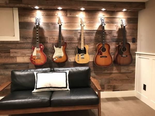 استفاده از گیتار در دکوراسیون، نحوه استفاده از گیتار قدیمی در دکوراسیون منزل