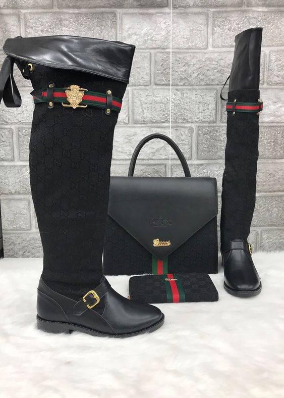 ست کیف و بوت ساق بلند زنانه