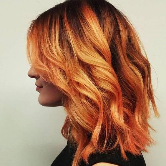 رنگ مو نارنجی