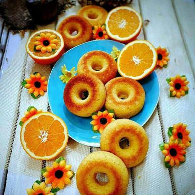 آموزش طرز تهیه دونات پرتقالی خوشمزه و سریع
