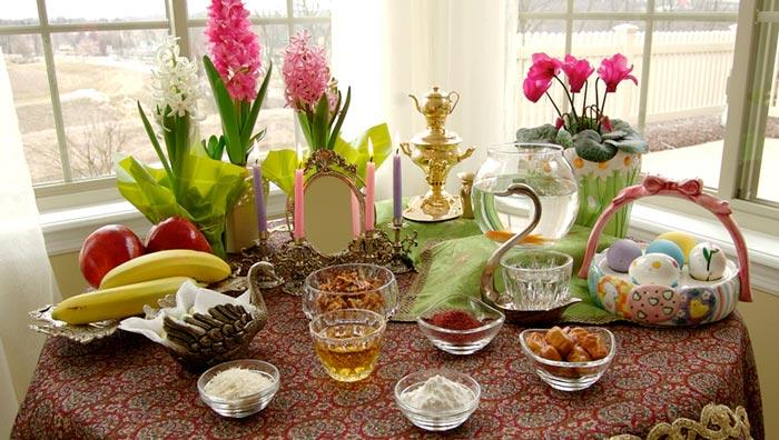 تزیین میز پذیرایی عید نوروز