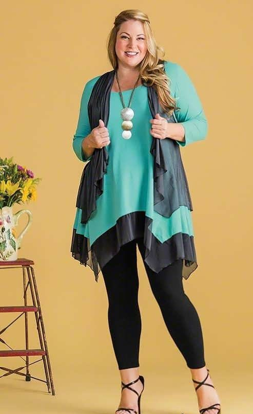 مدل تونیک برای خانم های چاق و سایز بزرگ در طرح های زیبا