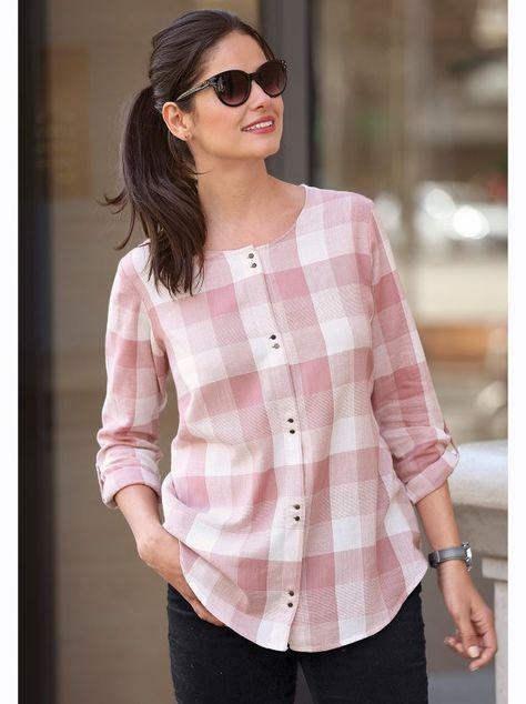 مدل پیراهن چهارخانه زنانه