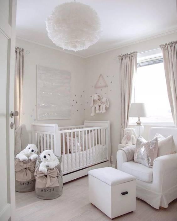 Photo of دکوراسیون اتاق کودک با تم سفید | عکس های دکوراسیون با تم سفید برای اتاق کودک