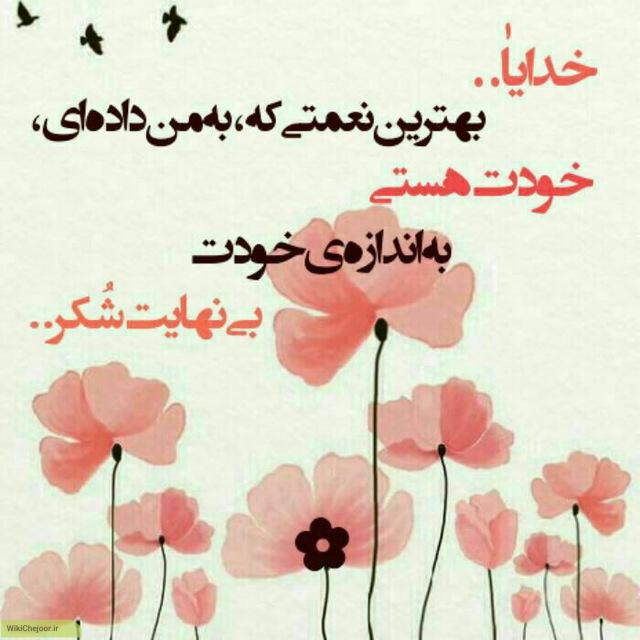 جملات شکرگزاری خداوند