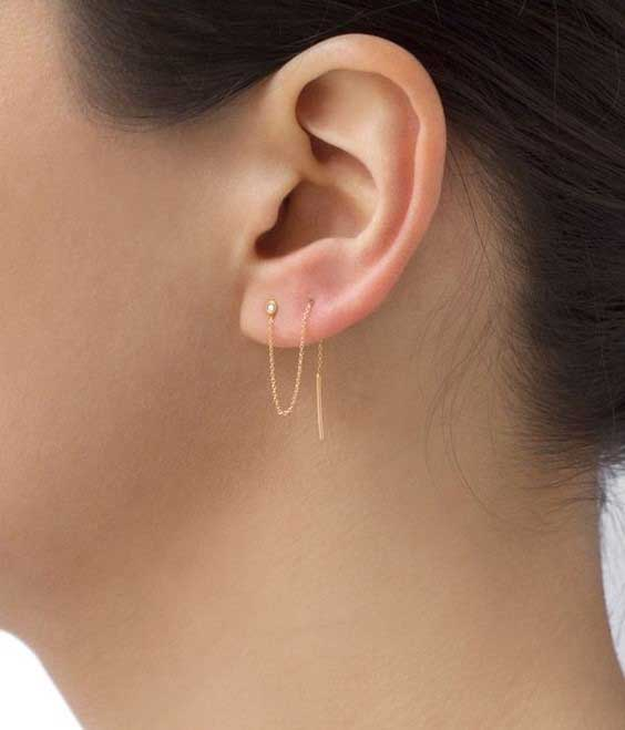 مدل گوشواره بخیه ای