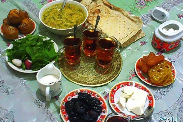غذای سحر ماه رمضان