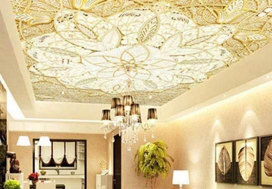 مدل کاغذ دیواری سقف