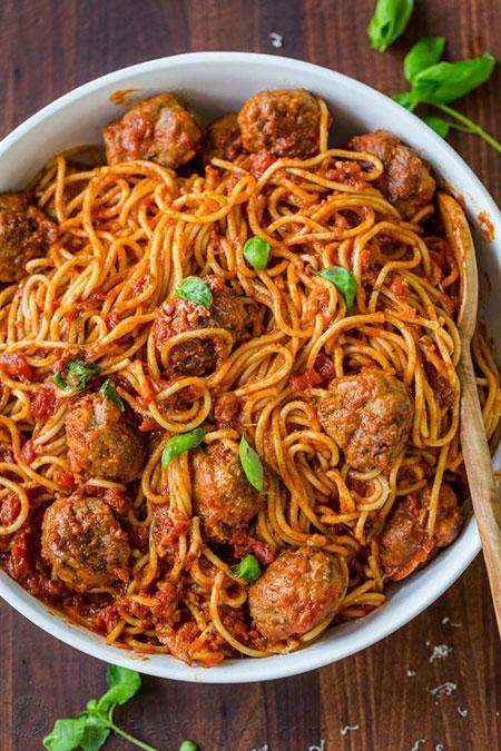 اسپاگتی با کوفته قلقلی