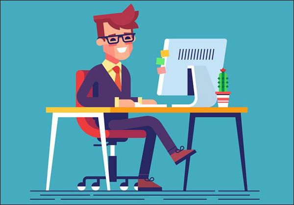 نشستن صحیح پشت کامپیوتر
