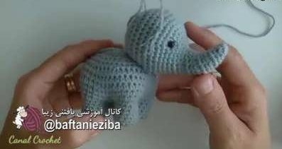 آموزش عروسک بافتنی فیل + مراحل کامل بافت عروس بافتنی به صورت تصویری