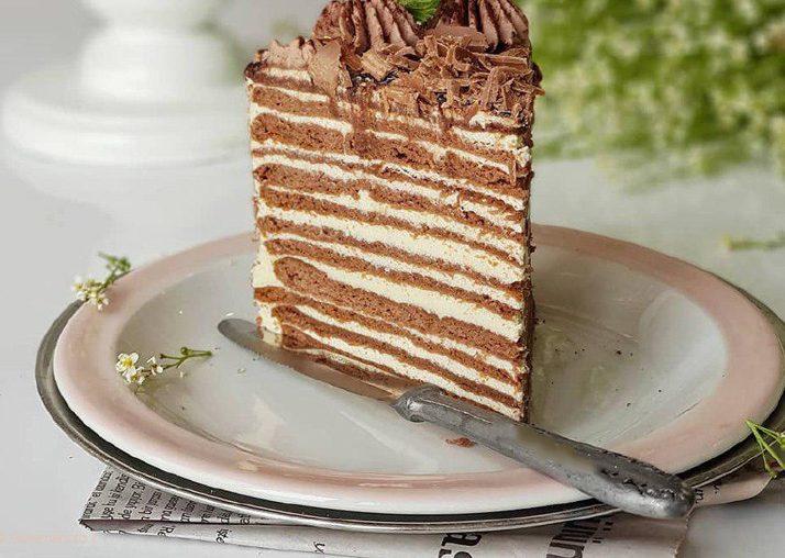 کیک روسی شکلاتی