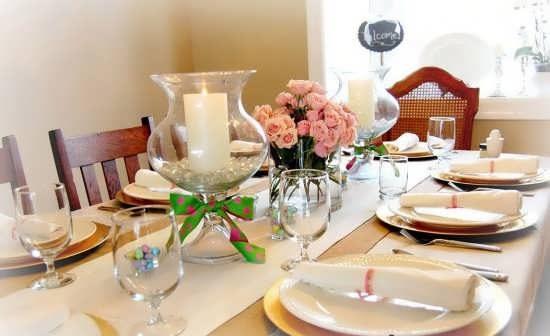تزیین میز ناهار خوری