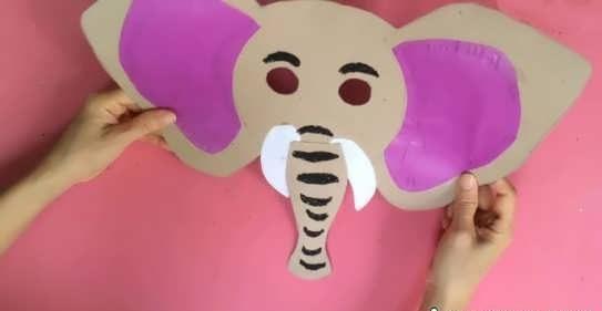 کاردستی فیل با مقوا