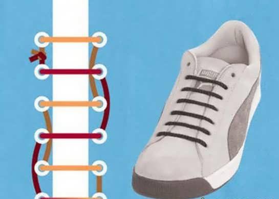 مدل بستن کفش کتانی