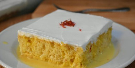 کیک خیس زعفرانی