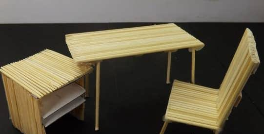 کاردستی با سیخ چوبی
