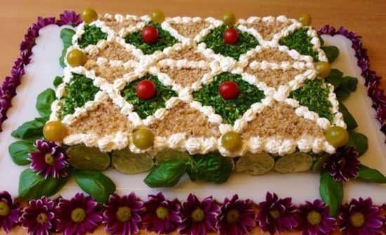 تزیین کیک مرغ