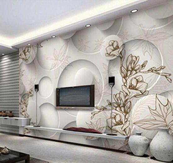 مدل های کاغذ دیواری سالن پذیرایی