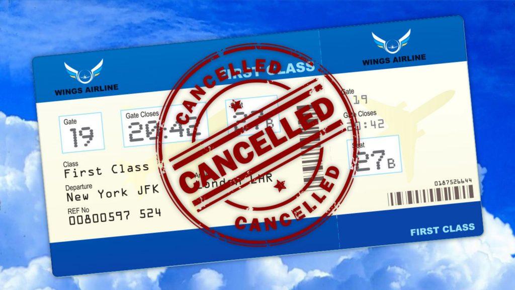 اقدامات لازم در صورت کنسلی بلیط هواپیما