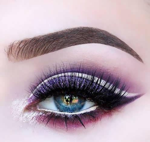 مدل آرایش چشم آبی رنگ
