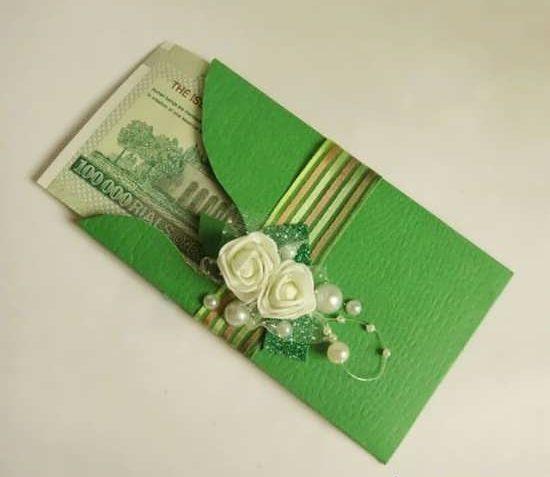 تزیین پاکت پول و پاکت نامه + ایده های خلاقانه برای تزیین کرد پاکت