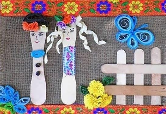 آموزش ساخت عروسک با چوب بستنی
