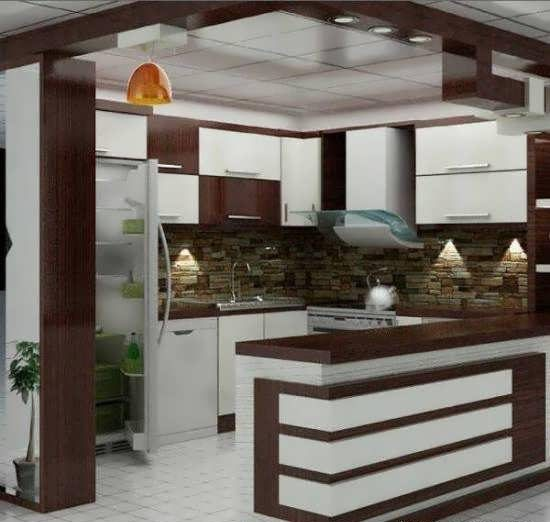 دکوراسیون چوبی آشپزخانه