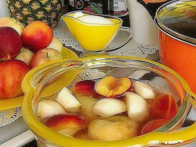 طرز تهیه کمپوت چند میوه