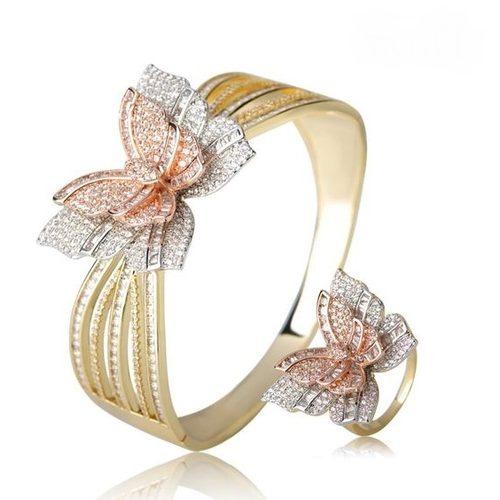 ست انگشتر و دستبند طلا زنانه + ۲۵ مدل ست زیبا و شیک برای خانم ها